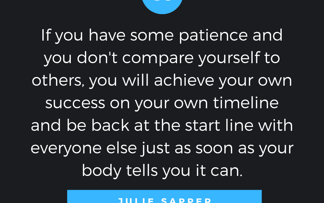 Runner and Coach Julie Sapper: Earning a Personal Best in Recovery