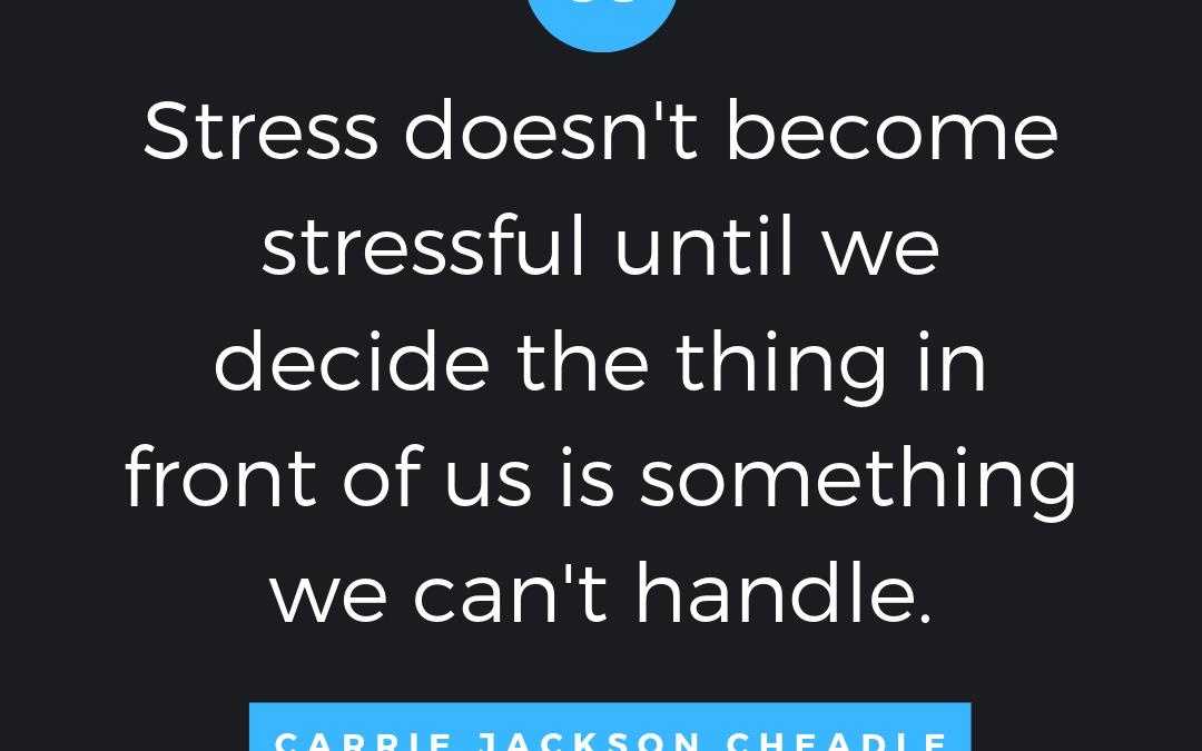 Taking Stress Head On
