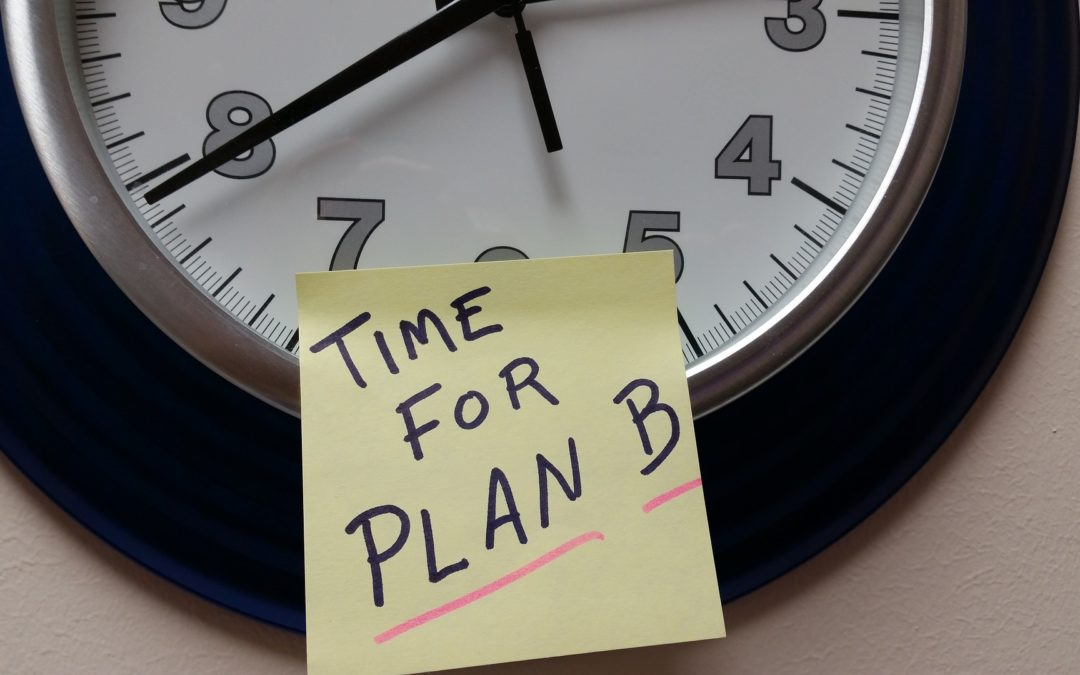 Get good with change: Time to Persist and Embrace Plan B